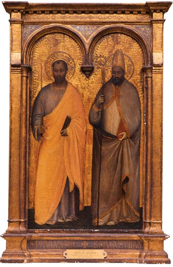 'St. Paul and St. Augustine' (1363) by Giusto de' Menabuoi (Georgia Museum of Art, University of Georgia, Athens, GA)  ...from the Kress Foundation Collection.