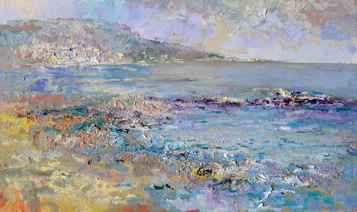 Vitalie Butescu - Coasta de Argint-Balcic / The Coast of Balchik, 60 x 40 cm, ulei pe pânză / oil on canvas