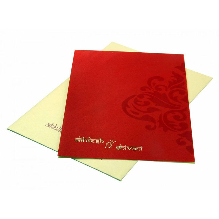moroccan scroll wedding invitations%0A Wedding Invitation in Golden with Motif on Red Satin Flap