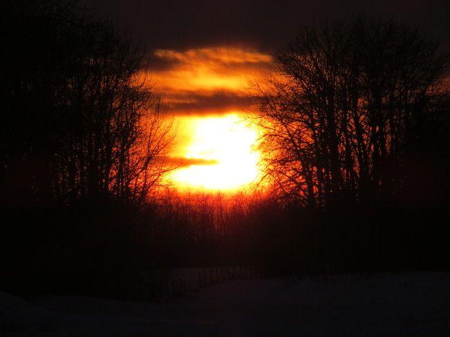 Sunset in Devon Alberta