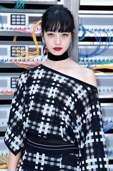 Nana Komatsu attends the Chanel show as part of the Paris Fashion Week Womenswear Spring/Summer 2017  on October 4, 2016 in Paris, France.