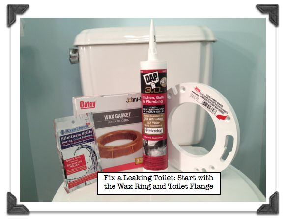 Fix a leaking toilet-start with the wax ring and closet flange