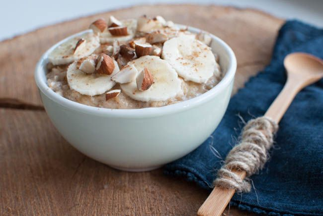 Havregrød med kanel og banan