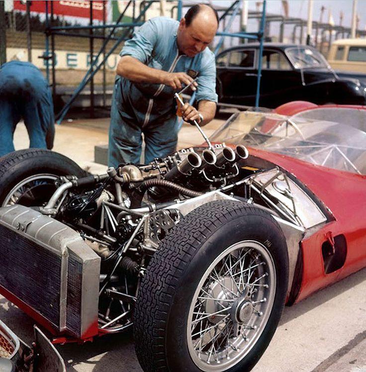 Maserati Birdcage , Nurburgring 1961.