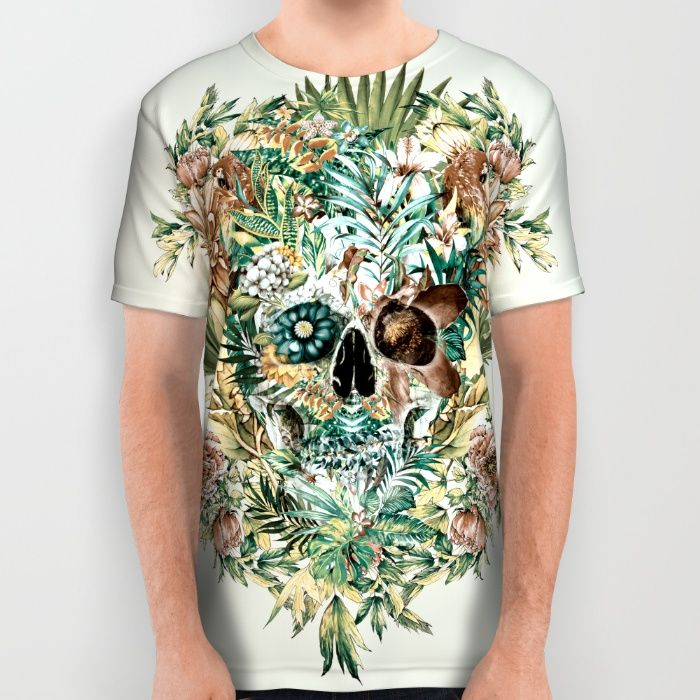 Skull IV All Over Print Shirt#skull #tshirts #exotic #wild #animals #menswear #womenswear #society6