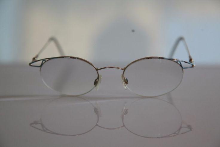 EBM Eyewear, Gold Half Rim Frame,  RX-Able Prescription Lenses. Germany #EBMEyewear