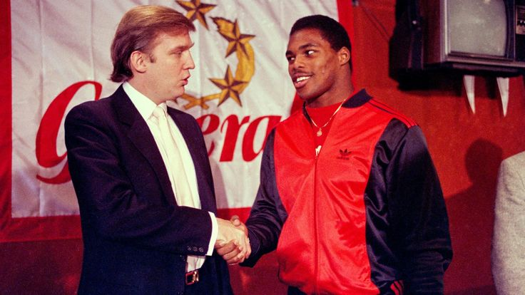 """Trump Has Been Losing to the NFL for Decades His NFL competitor failed. So did his bid to buy the Buffalo Bills.  --- Donald Trump's game remains selling his own imagined superiority to everyone & everything.  """"He'll use racism if it suits his purpose."""" 2017 Sept 26"""