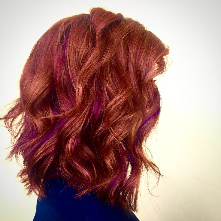 Red and purple hair #redhair #naturalred #purplehair #ginger