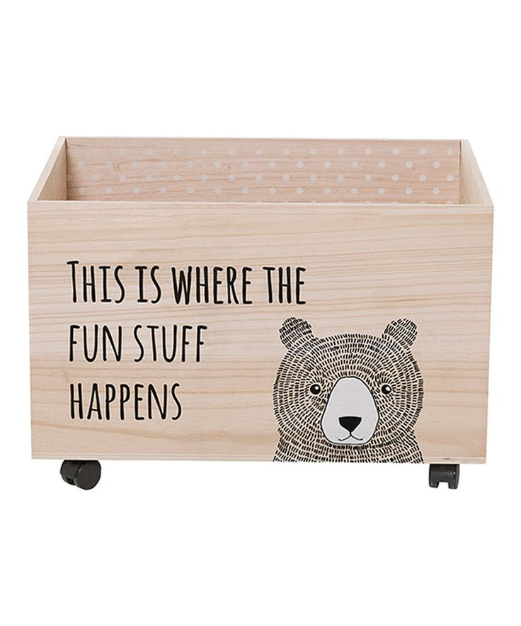 Look at this 'This is Where the Fun Stuff Happens' Toy Box on #zulily today!