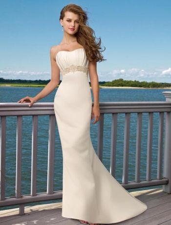 Белое русалочка открытое простое пляжное свадебное платье со шлейфом открытая спина
