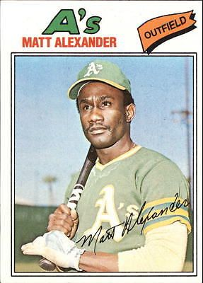 1977 Topps Oakland Athletics Baseball Card #644 Matt Alexander - EX