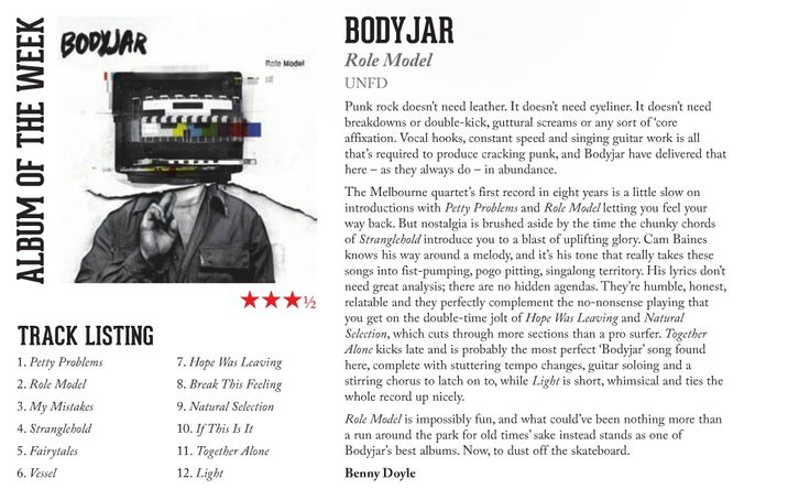 Bodyjar - The Music Feature Review!
