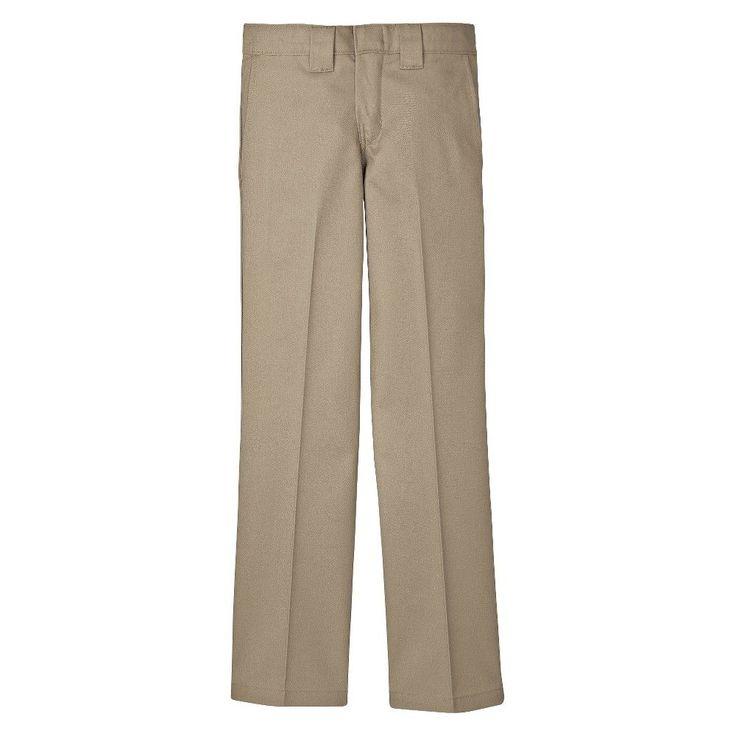 Dickies Boys' Slim Straight Pant - Desert Sand, Boy's, Size: 10