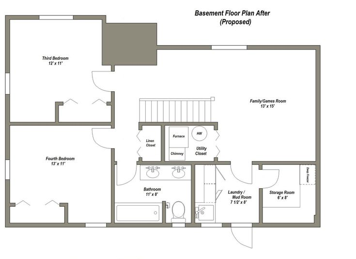 Best 25+ Basement Floor Plans Ideas On Pinterest | Barndominium