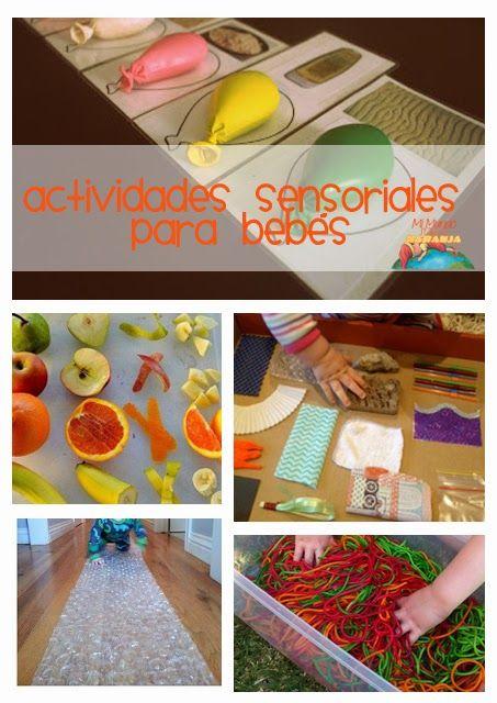 Mi Mundo sabe a Naranja: Actividades sensoriales para bebés