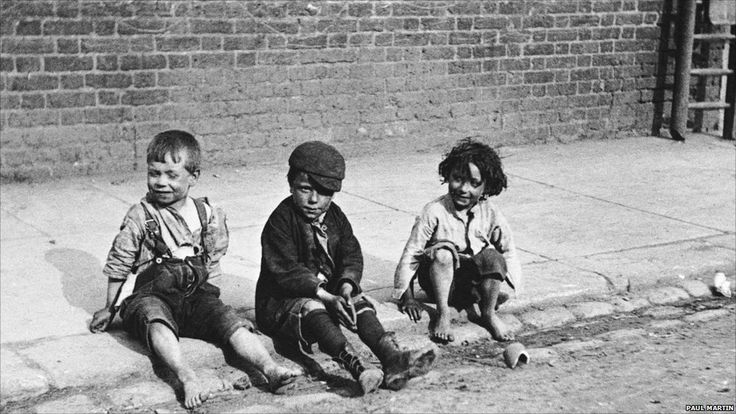 'Street Urchins', 1893 by Paul Martin who was the first photographer to roam the streets of London with a disguised camera for the purpose o...