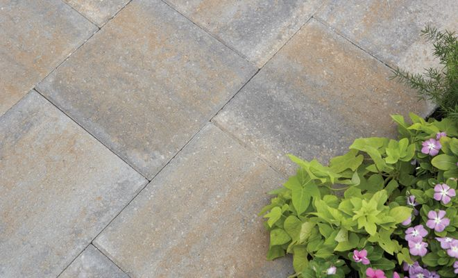 Using A Concrete Paver Inexpensive For The Front Entry