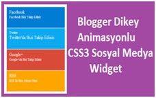 Blogger Dikey Animasyonlu  Sosyal Medya Widget