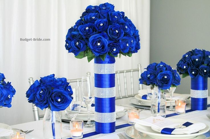 Horizon blue wedding flowers