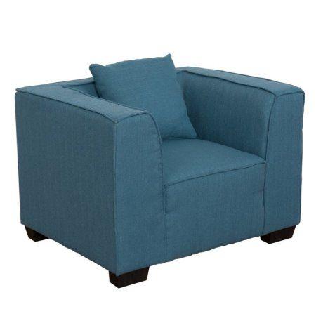 Lida Fabric Armchair, Blue
