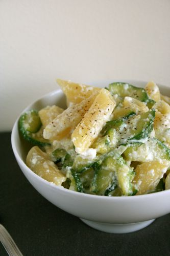 Penne with Zucchini and Ricotta (serves 3) 1 tbs olive oil pinch chili ...