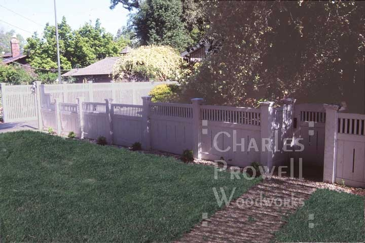 Another view of fence.  From Charles Prowell Woodworks.