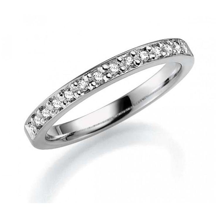 Ring vitguld 7 mm