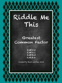 this bundle includes 2 different activities designed to help students practice finding the greatest common factor.
