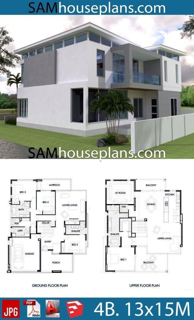 20 Big Modern House Floor Plans Plataran Best Denah Rumah Rumah Eksterior Rumah Modern