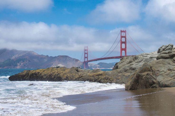 Bay bridge baker beach
