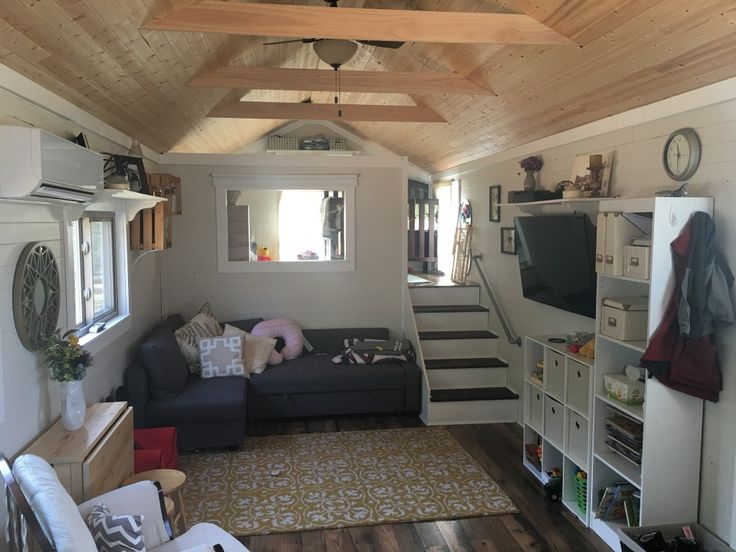 39 Tiny House W Loft On Gooseneck Tiny House