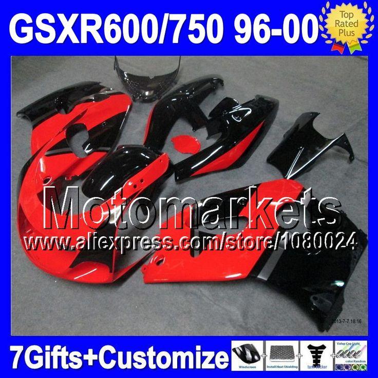 Новый красный черный для SUZUKI GSX R600 R750 SRAD GSXR 600 750 1996 1997 1998 1999 2000 M90 96 97 98 99 00 зализа блеск для губ красный blk