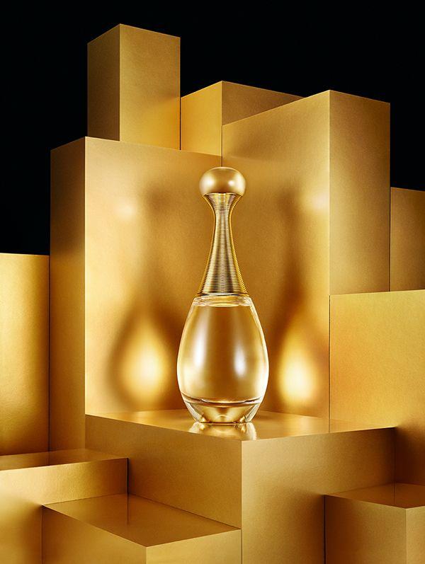 Golden Fragrance on Behance, set design, still life