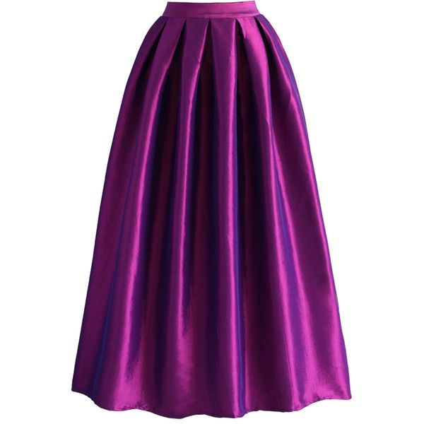 Chicwish La Diva Pleated Maxi Full Skirt in Violet ($43) ❤ liked on Polyvore featuring skirts, bottoms, юбки, purple, purple skirt, high waisted skirts, maxi skirt, high waist long maxi skirt and long skirts