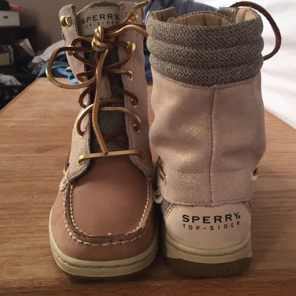 Sperry top sider high tops. Women's size 7. Sperry high tops. Great condition! Women's size 7 Sperry Top-Sider Shoes Combat & Moto Boots