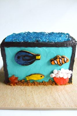 17 best images about australian women 39 s weekly children 39 s for Fish tank cake designs