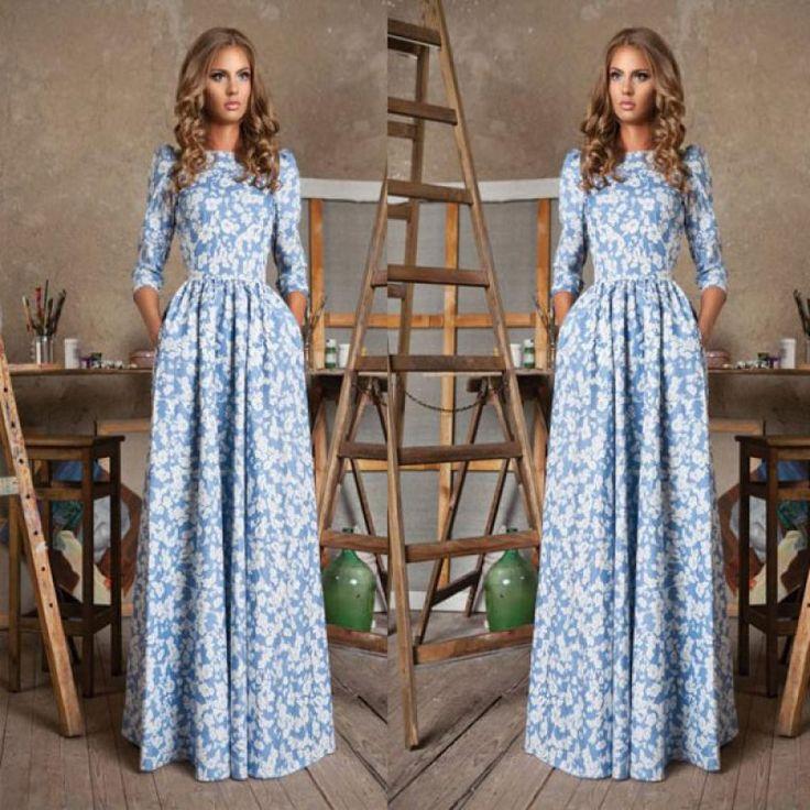 Платья летние длинные макси
