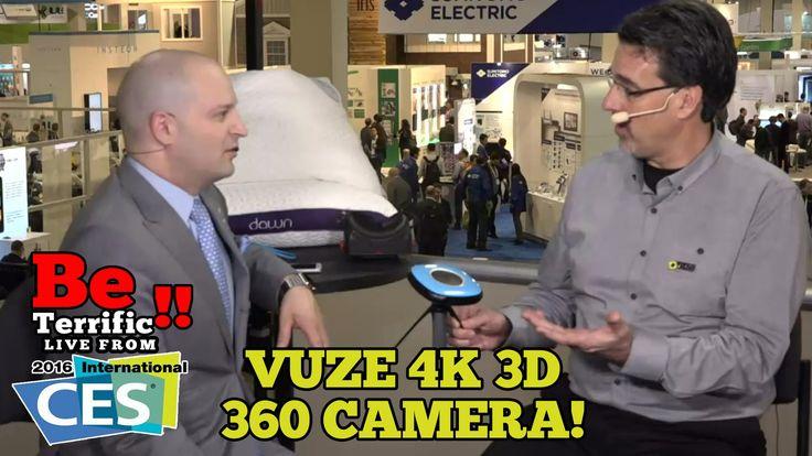 HumanEyes' VUZE 4K 3D 360 Camera at CES 2016!