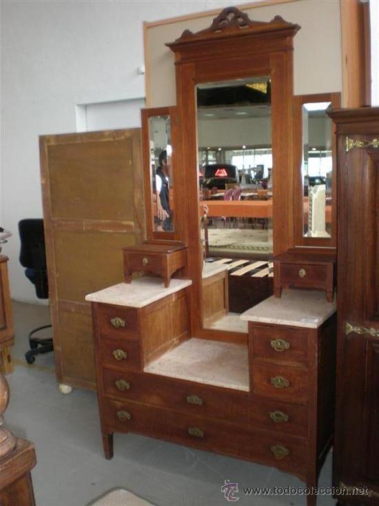 Muebles Tocador. Tocador Con Espejo. Mueble Comoda Para Recamara ...