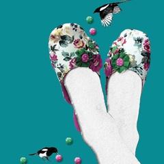 Stasia Jazzberry Slippers- Artwork