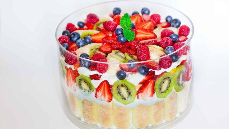 Mixed Fruit Trifle - Tatyanas Everyday Food