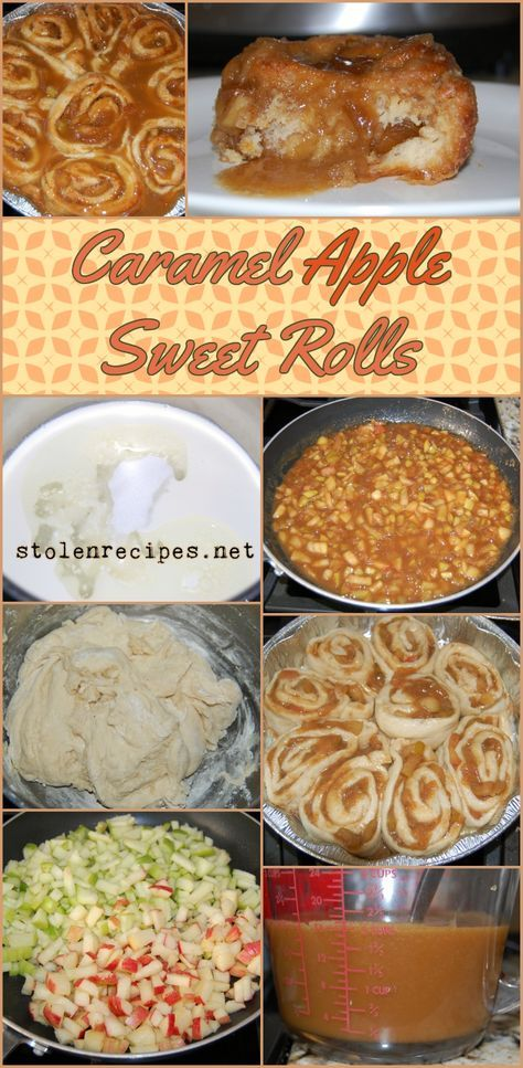 This recipe has three parts to it: homemade dough, apple filling and caramel icing. You won't believe how amazing these sweet rolls taste! Basic yeast dough starts on the stove top and rises for later use. Apple filling is made in a skillet to soften the apples and make a sauce for the filling. After rising, the dough is rolled out and filled with apples and sliced to rise a second time in baking pans. Once the rolls are baked, a caramel icing is made and spread over the hot rolls.