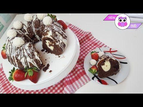 Rezept: Schokoladen-Gugelhupf mit Käsekuchen-Füllung - YouTube