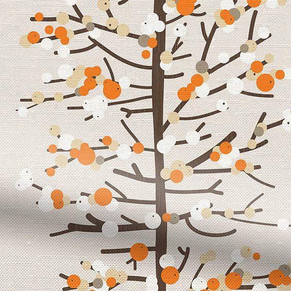 Berry Blossom Orange Roman Blind from Blinds 2go