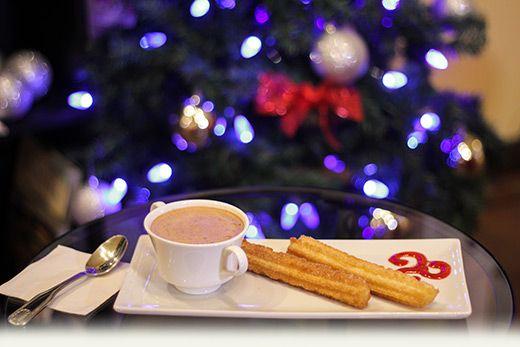 Churros con chocolate..!!!  Venez enfin savourer cette  collation typiquement espagnole à #centrelatienda