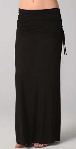 OUR price: $49.99! Young Fabulous and Broke Sierra Ruched Foldover Maxi $128 NWT Black #YoungFabulousandBroke #Maxi