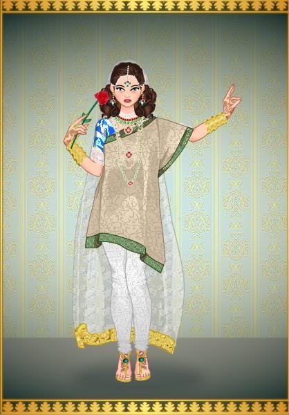 Princesa Penelope en traje Indu