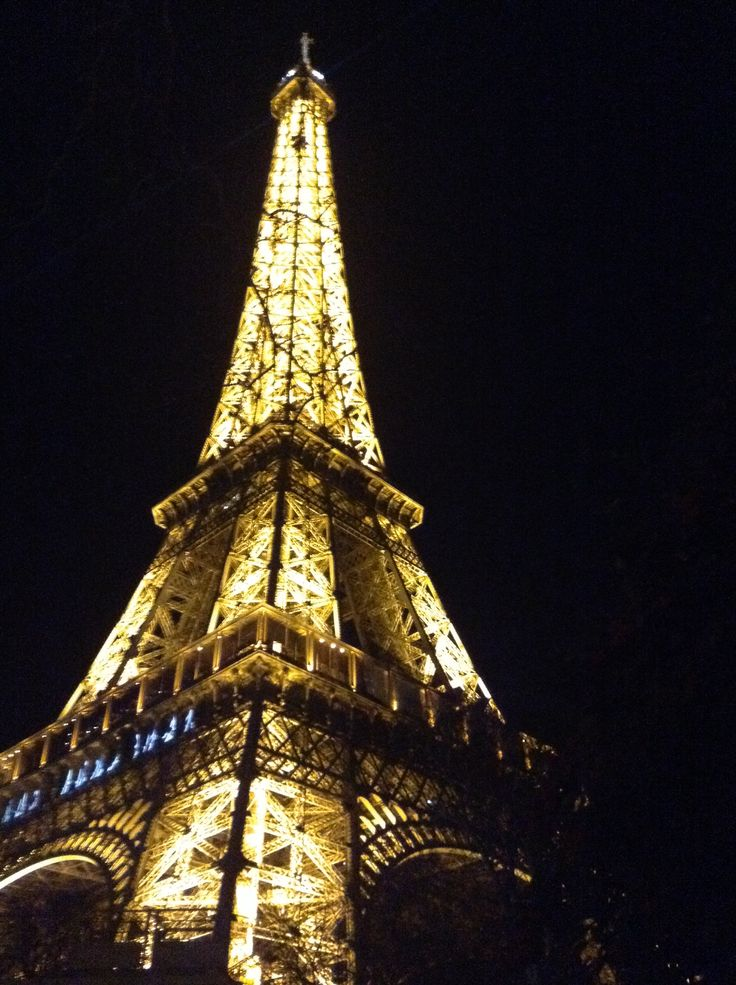 Eiffel Tower at night. So awesome
