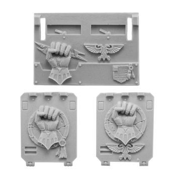'Imperial/Crimson Fists Rhino Doors and Front Plate