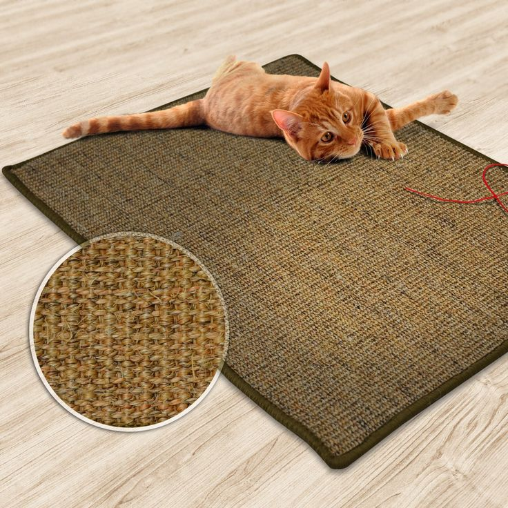 "casa pura Sisal Cat Mat Cork Tweed | Scratch Play Pad | Multiple Colours & Sizes Available 24"" x 32"""